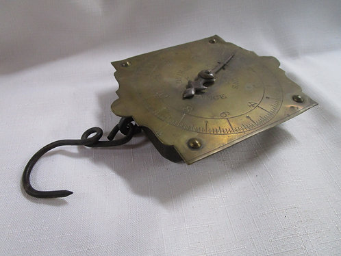 Vintage Chatillon's Brass Face Hanging Scale