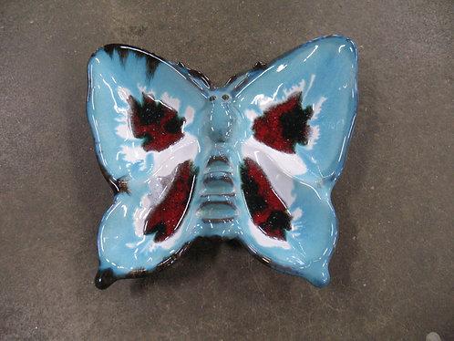 Vintage Ceramic Butterfly Ashtray Trinket Dish