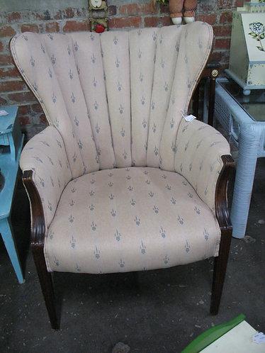 Vintage JB Van Sciver Channel Back Upholstered Armchair