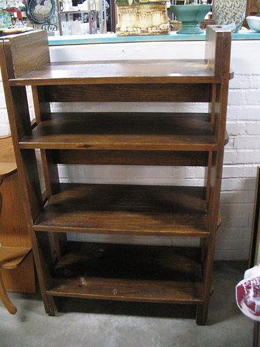Solid Wood Four Shelf Deep Bookcase