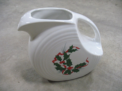 Fiesta Holiday Holly and Ribbon Disc Pitcher
