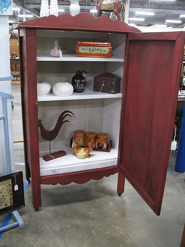 Antique Painted & Distressed Jelly Cupboard