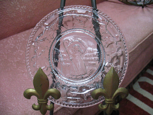 Vintage Indiana Glass Clear Glass Little Bo Peep Plate