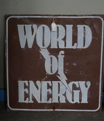 Vintage World of Energy Metal Sign