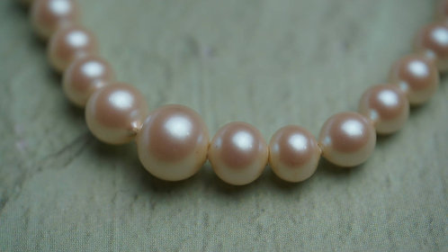 Faux Pearl Necklace, 14""