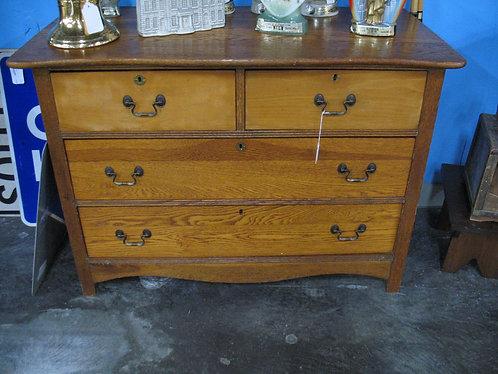 Vintage Oak Two over Two Dresser