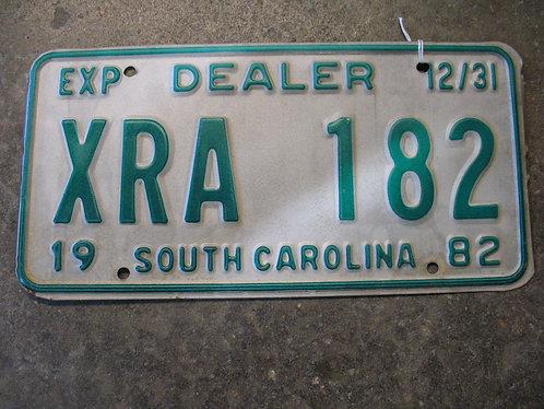 1982 South Carolina Dealer XRA 182