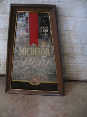 Vintage Michelob Light Beeco Advertising Mirror