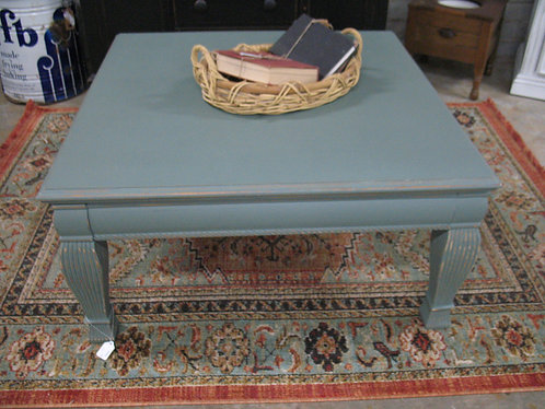 Vintage Farmhouse Painted & Distressed Coffee Table