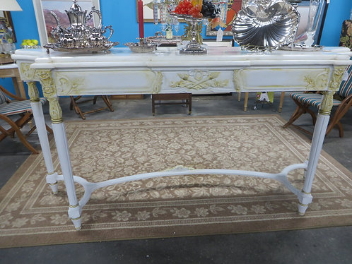 Antique French Marble Top Wall Table