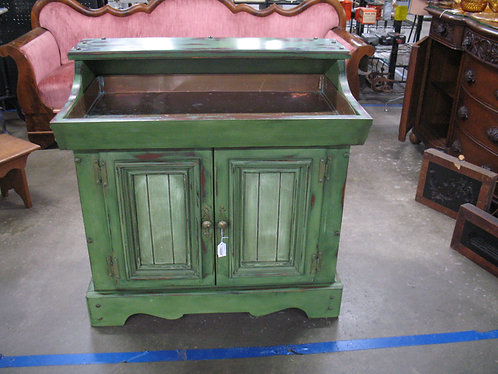 Vintage Custom Painted/Distressed Dry Sink with Removable Copper Tray