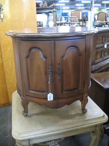 Vintage Broyhill French Country Maple Drum Cabinet