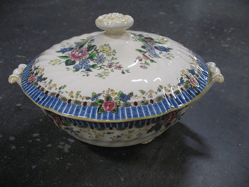 Vintage Royal Doulton The Vernon Blue D5124 Serving Dish with Lid