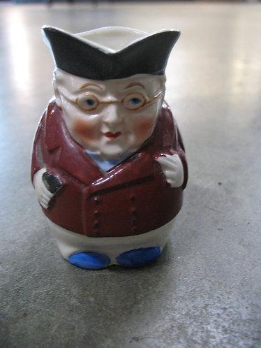 Vintage Japan Colonial Gentleman Toby Jug Small Creamer