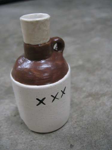 Handcrafted Ceramic Whiskey Jug Pie Bird