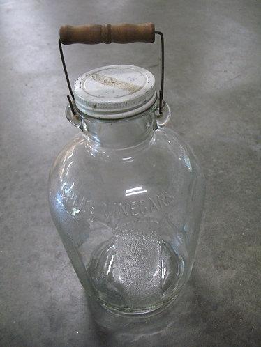 Vintage Speas Vinegar U-Savit 1 Gallon Jar with Lid and Carry Handle
