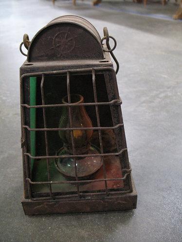Antique Nautical Oil Lamp Signal Lantern