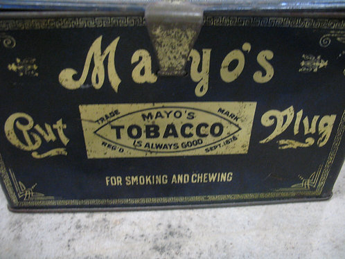 Vintage Mayo's Cut Plug Tobacco Metal Tin