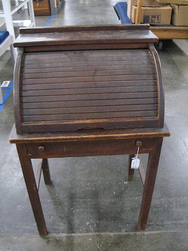 Antique Children's Roll Top Wood Desk