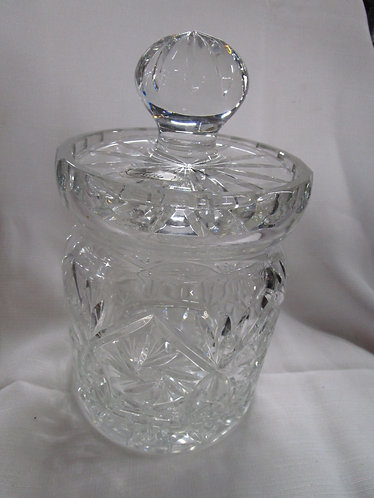 Lulu Poland 24% Lead Crystal Candy Biscuit Jar with Lid
