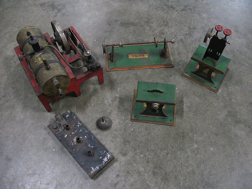 Vintage Children's Play Weeden Steam Engine with Accessory Equipment