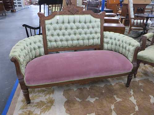 Antique Upholstered Eastlake Settee