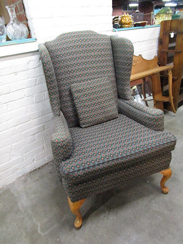 Vintage Flame Point Upholstered Wingback Chair