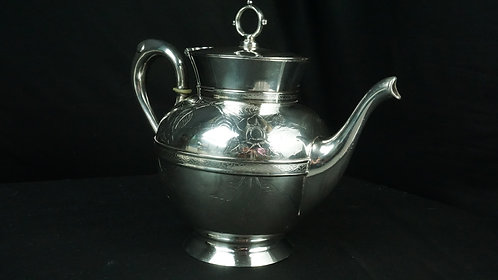 Webster and Brother teapot in Quad Plated Silver from 1865-1867