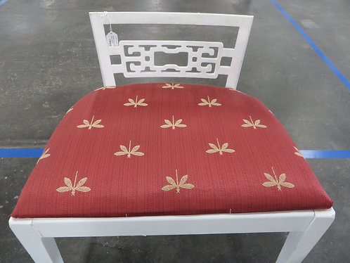 Vanity Chair with Dragonfly Upholstery
