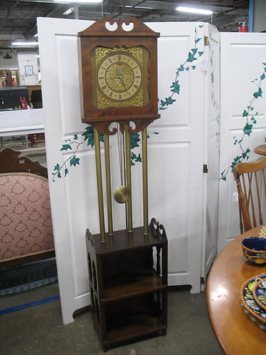 Vintage United Tall Clock and Table