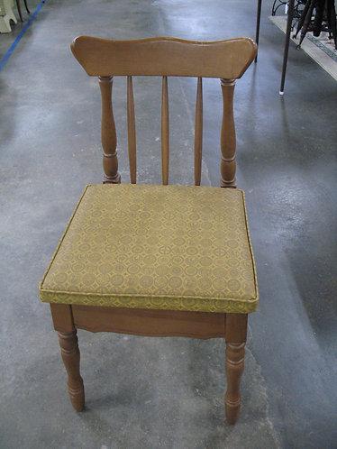 Vintage Retro Sewing Machine Chair with Hinged Storage