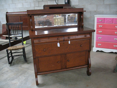 Antique Empire Furniture Co. Empire Tiger Oak Buffet