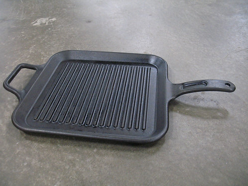 Vintage Lodge USA Cast Iron Square Grill Skillet