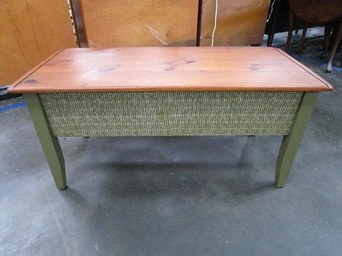 Vintage Pine Top Painted Base Coffee Table