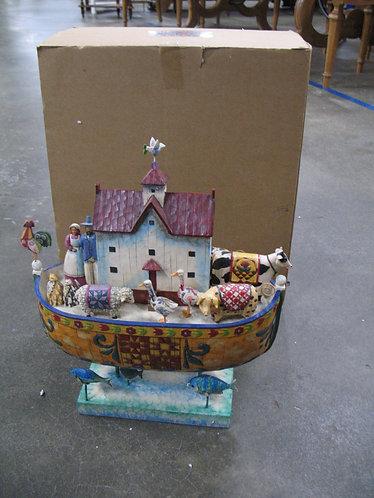 2004 Jim Shore Heartwood Creek Noah's Ark with Original Box