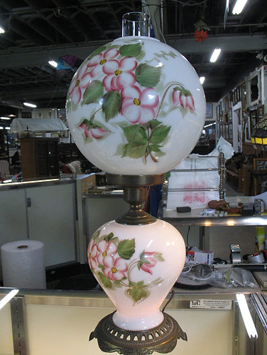 Vintage Handpainted Gone with the Wind Floral Electric Lamp