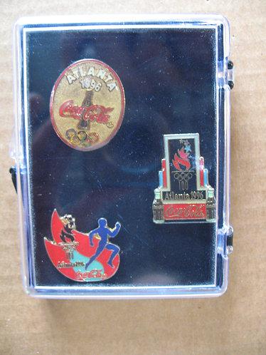 1996 Atlanta Olympics Coca Cola Pins Set of 3