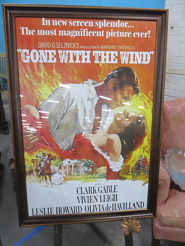 Framed Reprint of 1989 Lobby Poster for Gone With The Wind 50th Anniversary