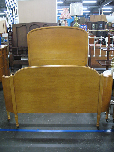 Vintage Birdseye Maple Full Size Bed Frame