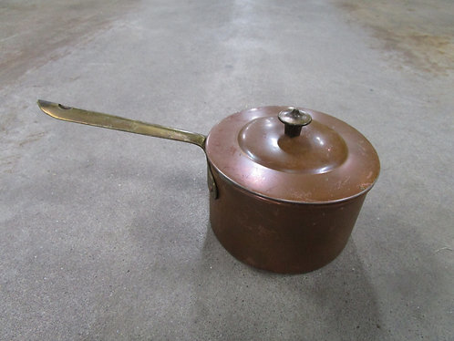 Vintage Made in Portugal Copper and Brass Small Saucepan