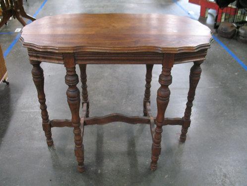 Vintage Jacobean Oval Entryway Table