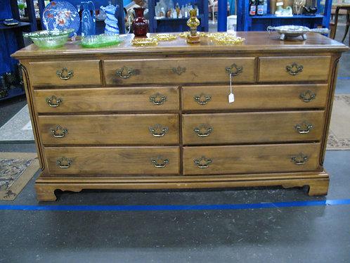 Vintage Wood Nine Drawer Dresser