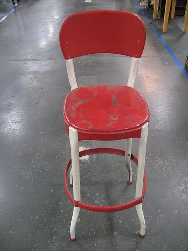 Vintage Retro Red and Cream Cosco Stool