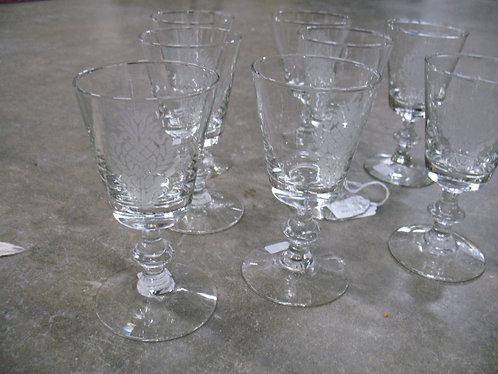 Pfaltzgraff Hospitality Heritage Pineapple Etched Wine Glasses Set of 8