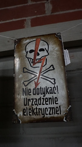 WWII Polish High Voltage sign
