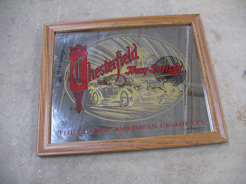 Vintage Chesterfield Cigarette Bar Mirror
