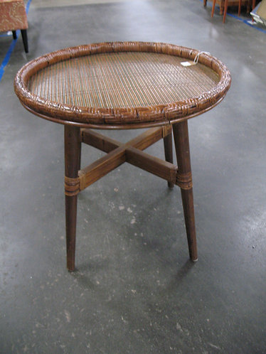 Modern Woven Rattan Side/End Table