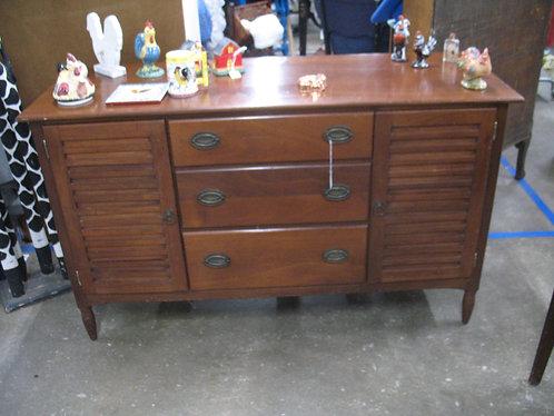 Vintage Shutter Door Solid Wood Server Sideboard