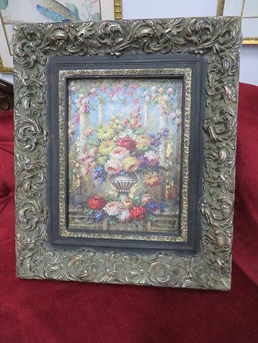 Vintage Original Floral Oil on Canvas