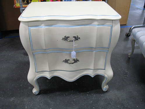 Vintage White Furniture French Provincial Nightstand
